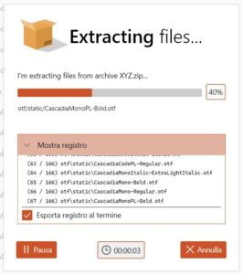 ZipGenius X extraction dialog